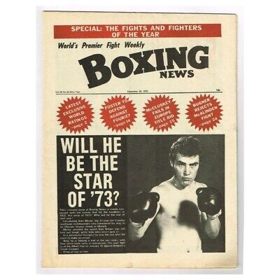 Boxing News Magazine December 29 1972 MBox3423/F Vol.28 No.52 Will he be the sta