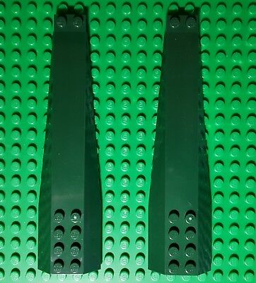 New LEGO Lot of 2 Dark Green 4x4 Wedge Pieces