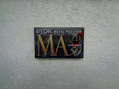 Vintage Audio Cassette TDK MA 50 * Rare Europe Model 1994 *