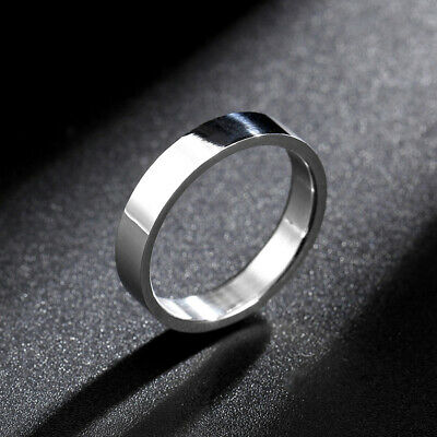 316L Stainless Steel Silver Anniversary Ring Mens Women's Engagement Band Sz 6-9