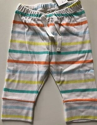 NWT BabyGap Pastel Striped Banded Cuff Pants 100% Certified Organic Cotton