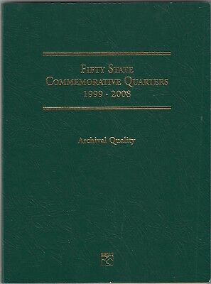 Coin Folder for 1999-2008 50 State Quarters LCF3 Quality Gift Album by Littleton