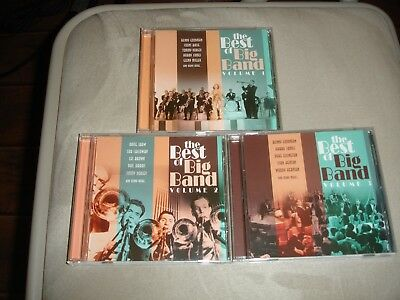 The Best Of Big Band Volume 1-3 CD Quality 3 CDs Viny 38472, 38482, and 38492