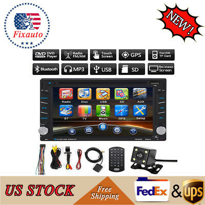 "2 DIN 6.2"" Car DVD Player Radio Stereo Touch Bluetooth USB/MP3  DVD VCD FM GPS"