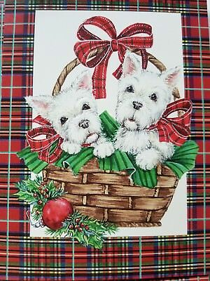 12 West Highland White Terrier Dog Westie Christmas holiday cards