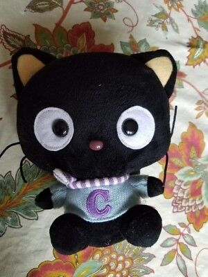 Saniro Chococat with purple and white scarf and sweater 2006