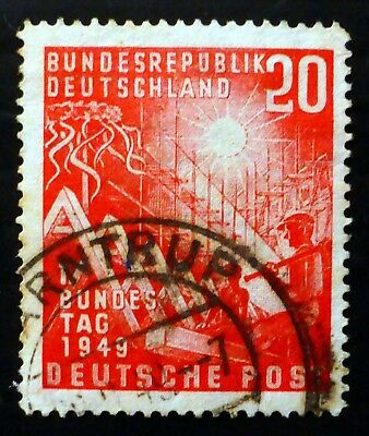GERMANY West 1949 SG1034 Fine/Used Cat £34 NJ404