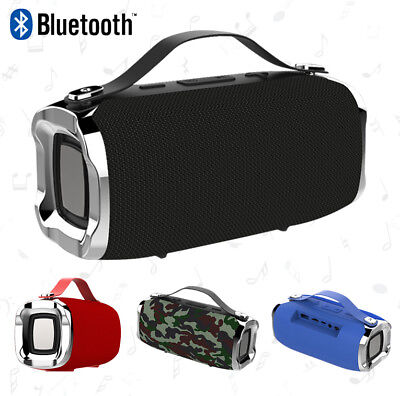 Portable Outdoor Bluetooth Speaker IPX6 Waterproof Super Bass Subwoofer With Mic
