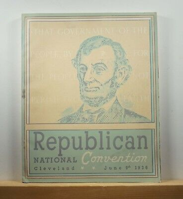 The Book of the Republican National Convention, Cleveland, June 9th 1936