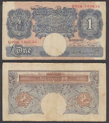 Great Britain 1 Pound ND 1940 (F) Condition Banknote KM #367 (U02H)