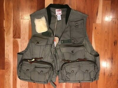 NEW! FILSON FLY FISHING GUIDE VEST - GREEN #16000  SIZE: MEDIUM Made in USA $300
