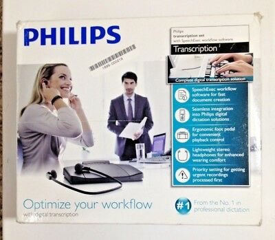 UNUSED Philips Professional Transcription Set with SpeechExec Workflow Software