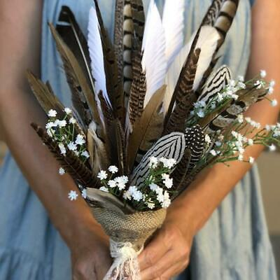New Wedding Natural Feather Bouquet - Wholesale Feathers & Craft Supplies