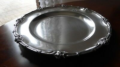 Christofle France. Beautiful antique Silverplate round dish plate tray.XIXth...A