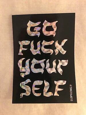 f1b131d2523 SUPREME GO F    YOURSELF STICKER SS 17 FUK F CK Black -  4.00