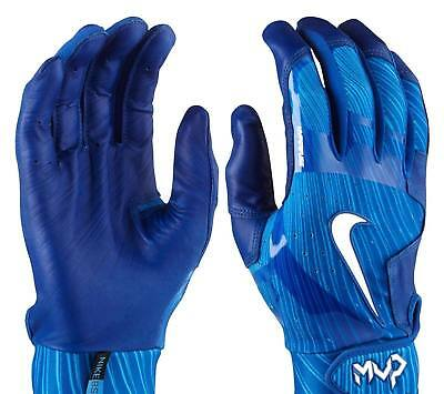 Nike MVP Elite Baseball Batting Gloves, Adult Unisex, Size S, Blue