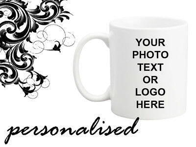 Personalised Mug Photo Text Logo Design Gift Surprise Birthday Any Occasion Idea