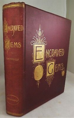 ENGRAVED GEMS: HISTORY Sommerville 1889 Signed Greek Roman Classics Antiquities