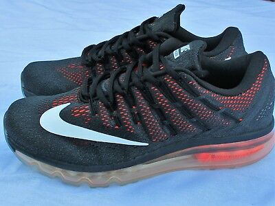 Details about NIKE AIR MAX 2016 MENS TRAINERS BLACK + ORANGE UK SIZE 6 11