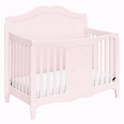 Baby Cribs Convertible 4 In 1 Toddler Bed Nursery Daybed Full White Pink