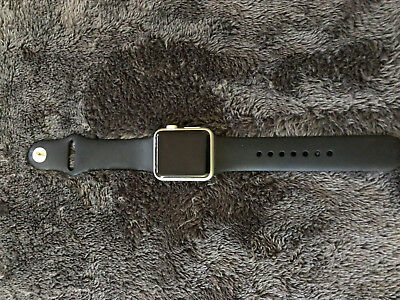 Apple Watch 7000 Series 38mm Silver Aluminum Case Black Sports Band