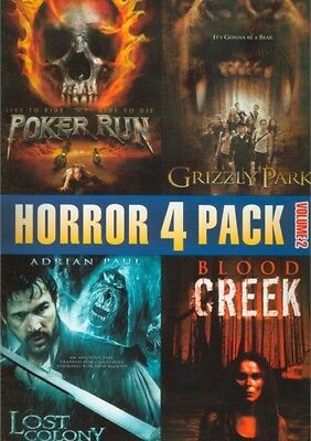 Horror 4 Pack V. 2 (DVD, 2011) Poker Run, Grizzly Park, Blood Creek, Lost Colony
