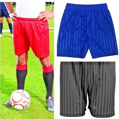 Unisex Boys Girls Kids Children School Sports Shadow Stripe PE Football Shorts