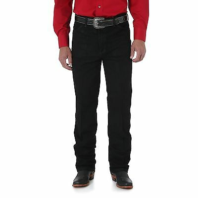 New Men  Wrangler Cowboy Cut@Slim Fit Western Rodeo Jeans Shadow Black