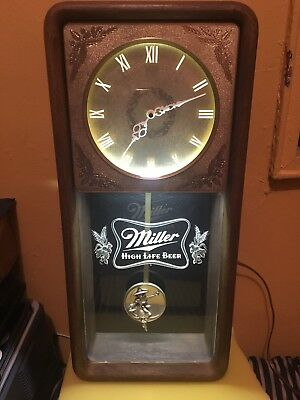 Vintage Miller High Life Beer Light Up Advertising wall Clock from the 1980's.