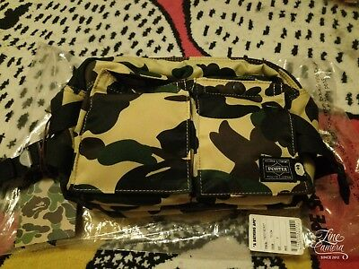 f65845de8c40 A BATHING APE BAPE x PORTER 1ST CAMO WAIST BAG Shoulder yellow New ...