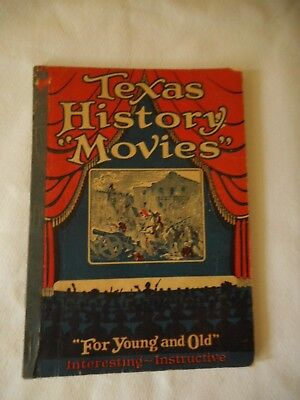 """Mobil Mobiloil Texas History """"Movies"""" Booklet 1928 Good Condition Jack Patton"""