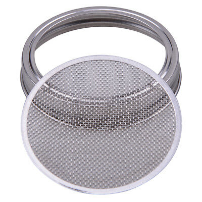 for Wide Mouth Mason Canning Jar Filter Stainless Steel Strainer Sprouting Lid