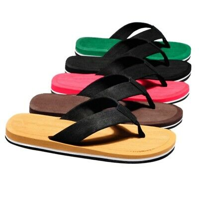 0e6faed8af5cb2 Men Summer Casual Flat Wedge Sandals Thong Flip Flops Slippers Beach Shoes  US