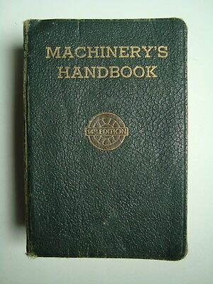 Machinery's Handbook 14th Edition Second Printing Toolbox Industrial Press 1950