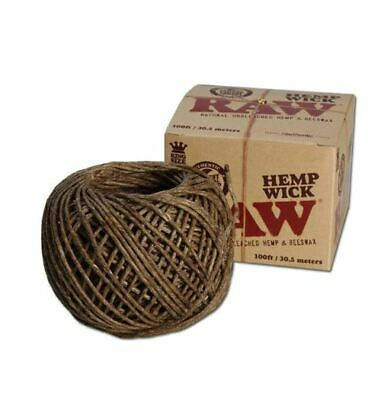 RAW Hemp Wick 30m Natural Unbleached Hemp and Beeswax