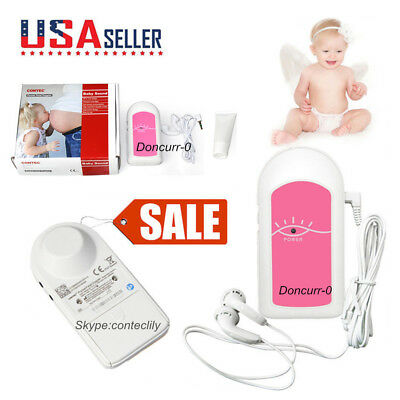 USA Pregnatal Fetal Doppler Heart Rate Monitor Baby Fetus Sound Recorder,Gel