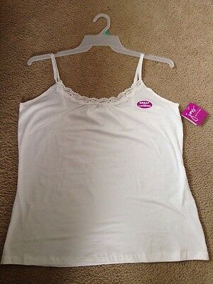 3fb74d066c90c8 2 JUST MY Size Shirred Cami s NWT size 1X 16W JMS -  10.95
