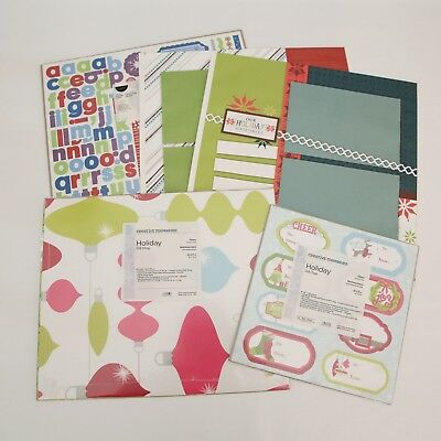 Creative Memories Mixed Lot Christmas Pages Stickers Tags Paper BNIP