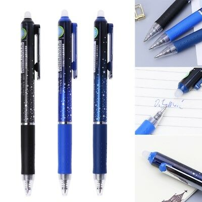 0.5mm Outer Space Press Erasable Gel Pen Blue Black Ink Office School Stationery