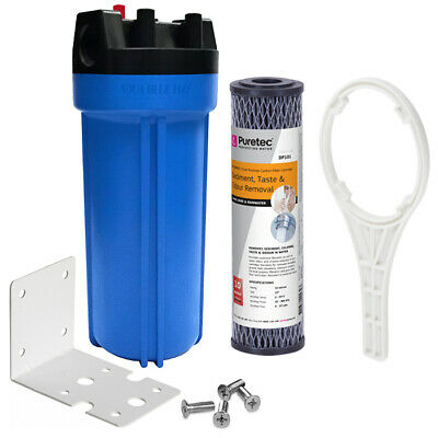 Whole House Water System with Puretec Carbon Block Filter DP101, Housing Wrench