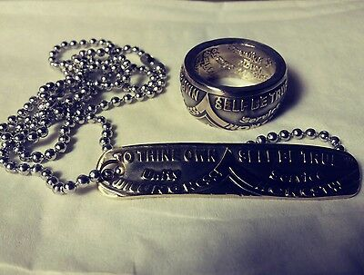 Handcrafted AA Coin ring / pendant and  Key Chain, Alcoholics Anonymous sobriety