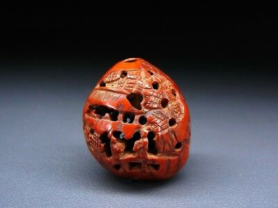 FINE Landscape OJIME NETSUKE 18-19thC Japanese Edo Antique for INRO  f463