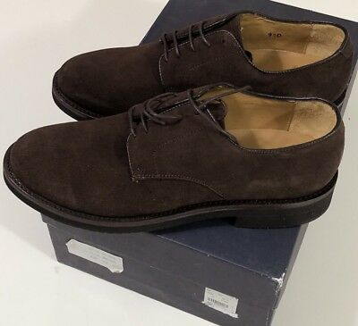 24858b192c8 NIB BROOKS BROTHERS Men s BROWN SUEDE DERBY OXFORD CASUAL SHOES Size 10 D