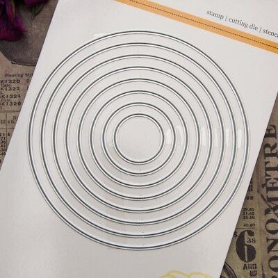 Round Cutting Dies Stencil DIY Scrapbooking Album Paper Card Embossing Crafts