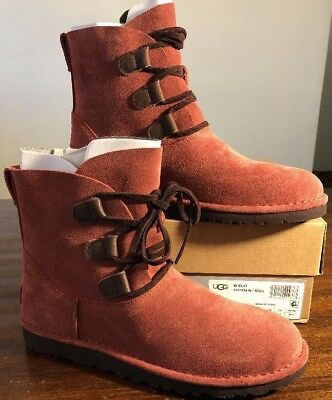 fdc98481825 UGG ELVI WOMEN Boots Red Clay Size 9 Very Nice NEW* AUTHENTIC With ...