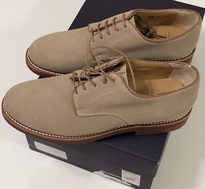 6aa15138cbc NIB BROOKS BROTHERS Men s SAND SUEDE DERBY OXFORD CASUAL SHOES Size 9.5 D