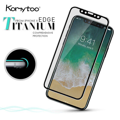 3D Curved Full Cover Tempered Glass Screen Protector Film For iPhone XS 8 7 Plus