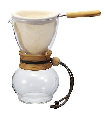 NEW HARIO for channel drip pot wood neck olive wood for 3 to 4 cups DPW-3-OV##Yu