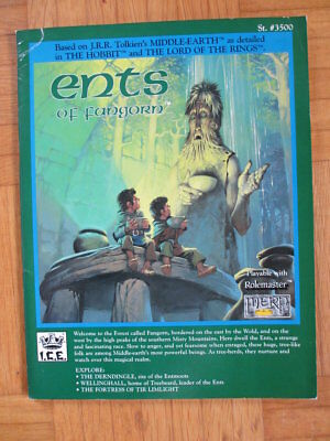 Middle Earth Ents of Fangorn + 4 maps I.C.E. #3500 MERS Merp Lord Rolemaster ccg