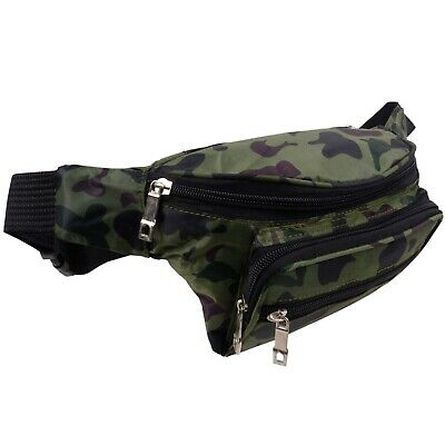 Camo Camouflage Army Nylon Bumbag Fanny Pack Travel Holiday Security